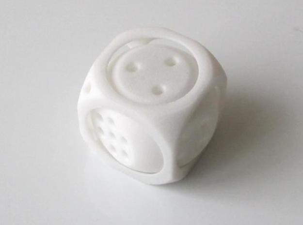 Double D6 Dice in White Strong & Flexible