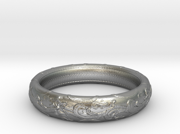 leaf Ring (various sizes) in Raw Silver: 7.5 / 55.5