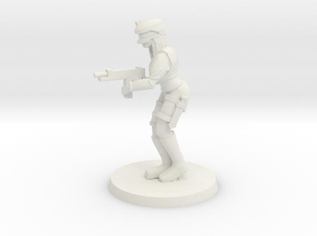 Mercenary Lucy in White Natural Versatile Plastic
