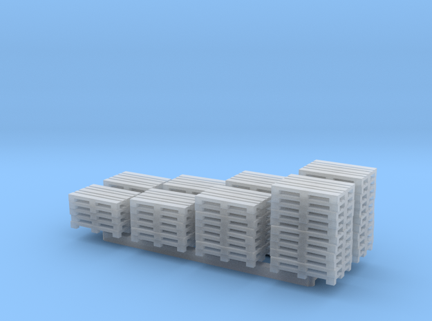 N Scale 8 Stacks of Pallets in Smooth Fine Detail Plastic