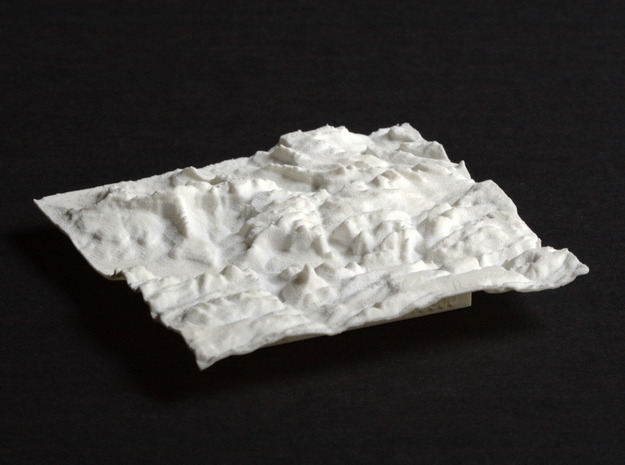 3'' Zion National Park Terrain Model, Utah, USA in White Natural Versatile Plastic