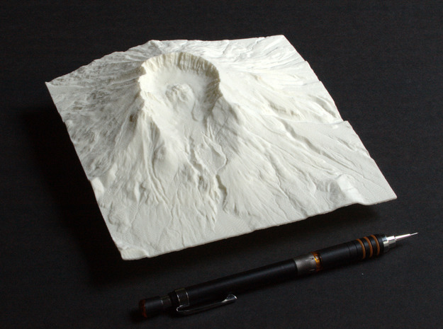 6'' Mt. St. Helens, Washington, USA in White Natural Versatile Plastic