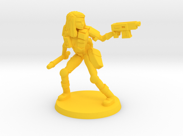 Colonial Marshal in Yellow Processed Versatile Plastic