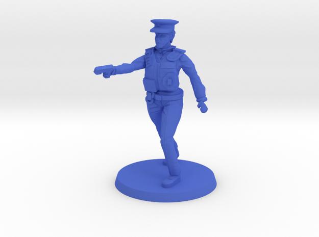 Officer Bobbi in Blue Processed Versatile Plastic