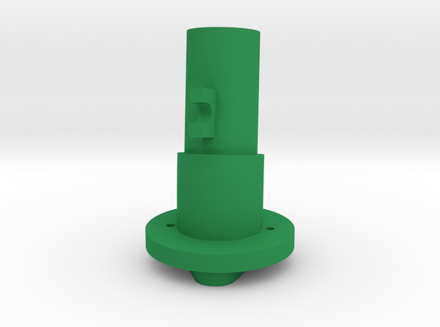 Thrustmaster tailpiece, 13° ang. 15°off. to the RI in Green Strong & Flexible Polished