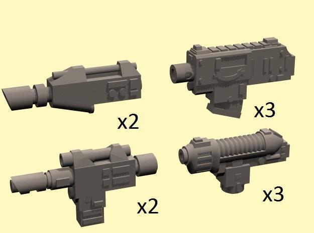 28mm SciFi Empire pistols (no handle)