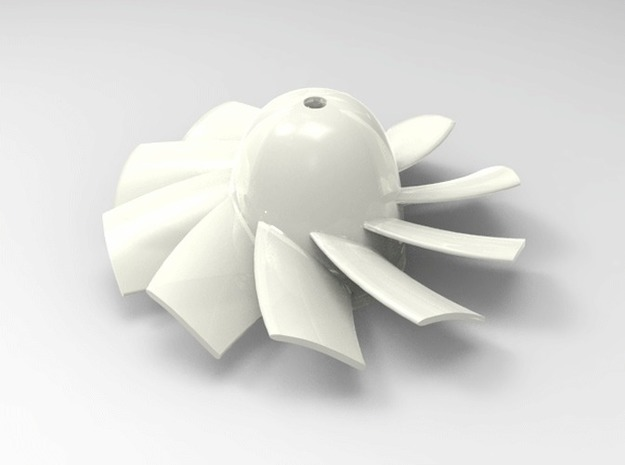 28mm 10 Blade Counter Rotating rotor for 1mm shaft in Frosted Ultra Detail