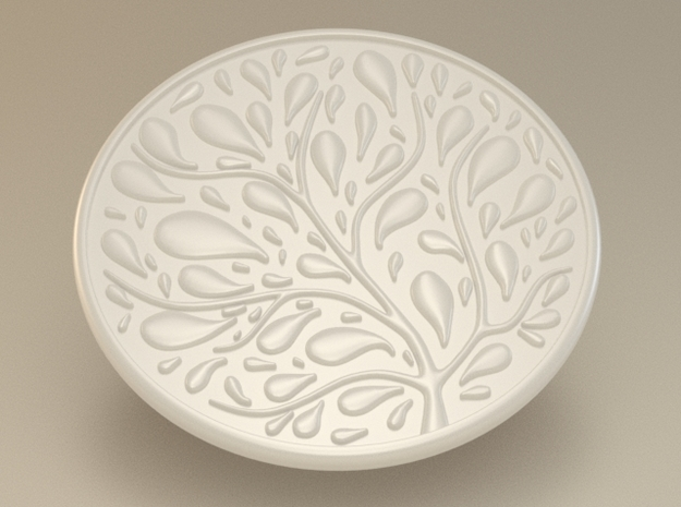 Tree Coaster in White Strong & Flexible