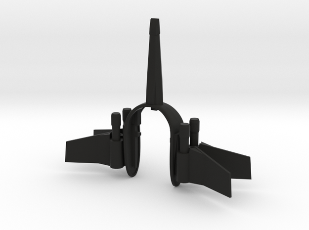 FIGHTER KEY FOB  in Black Natural Versatile Plastic
