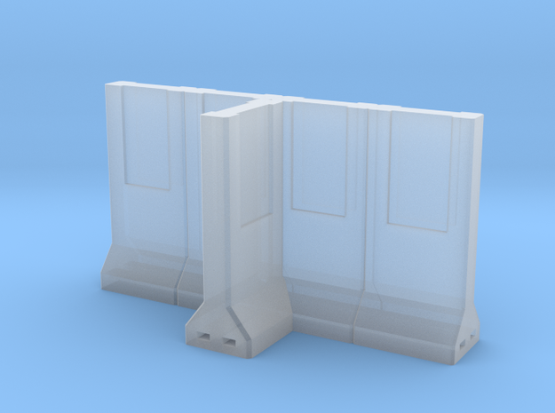Concrete Retaining Wall - T Configuration in Smooth Fine Detail Plastic