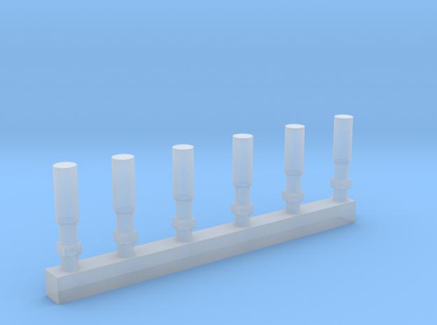 N 6 Firecracker Antennas in Smooth Fine Detail Plastic