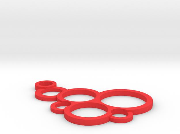 Bubble Pendant in Red Processed Versatile Plastic