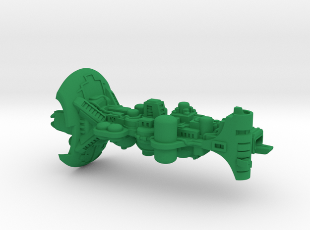 """Space Freighter """"Cauldron"""" (OEM Class) in Green Processed Versatile Plastic"""