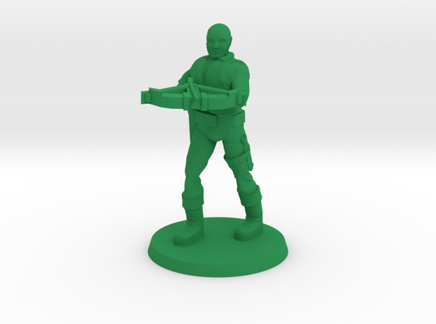 Andrew the Crossbowman  in Green Processed Versatile Plastic