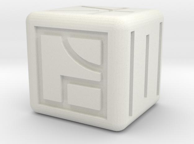 kanji dice in White Natural Versatile Plastic