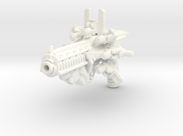 Time Blaster for TLK Hot Rod (more storage) in White Processed Versatile Plastic