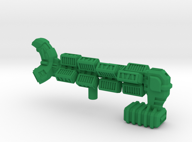"""Space Freighter """"Helicial"""" (OEM Class) in Green Processed Versatile Plastic"""
