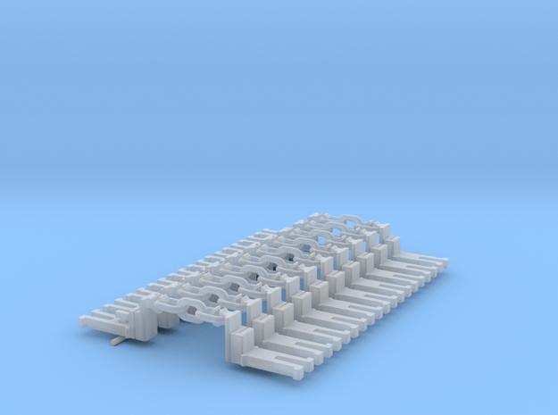 NEM OO Type 28 Couplings - Big-Step Up 3 Link x10 in Smooth Fine Detail Plastic