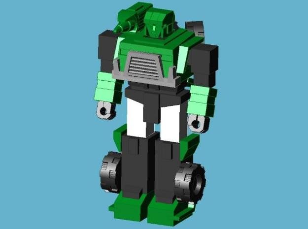 Hound minifigure 3d printed Assembled figure, front view