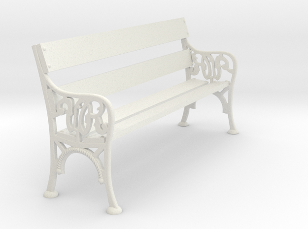 Victorian Railways Bench Seat 1:19 Scale in White Natural Versatile Plastic