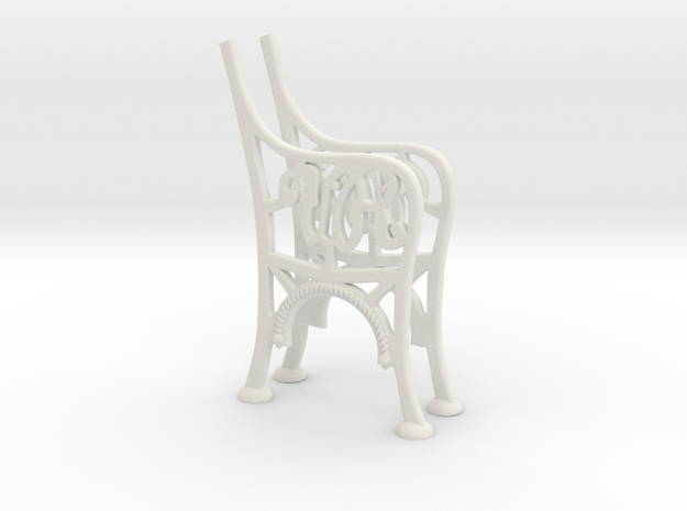 Victorian Railways Bench Seat Ends 1:19 Scale in White Natural Versatile Plastic
