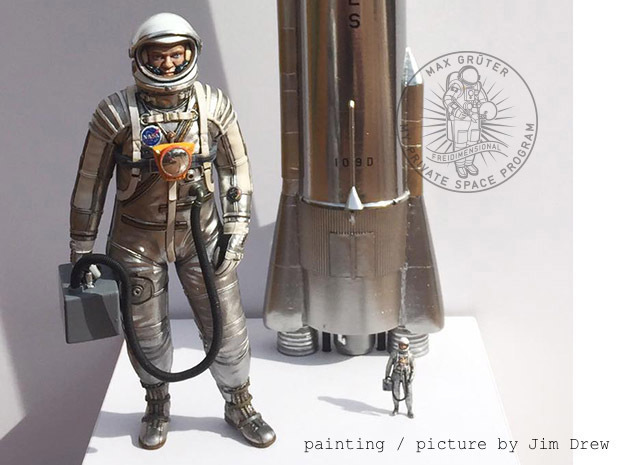 Mercury Astronaut Standing in White Strong & Flexible: 1:12