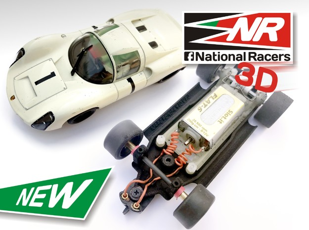 3D Chassis - MRRC Porsche 910 - Inline in Black Strong & Flexible
