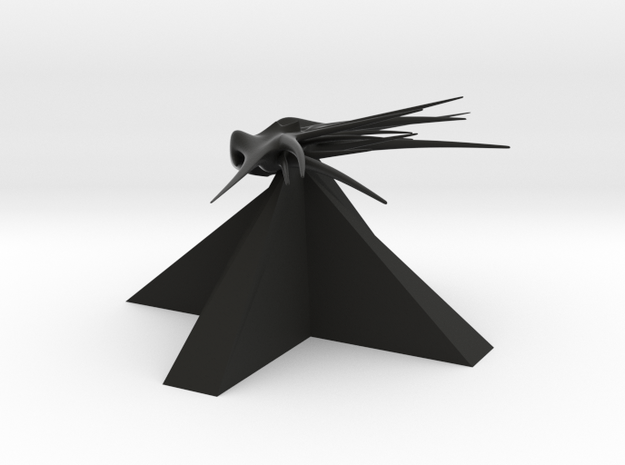Shadows - Carrier in Black Natural Versatile Plastic