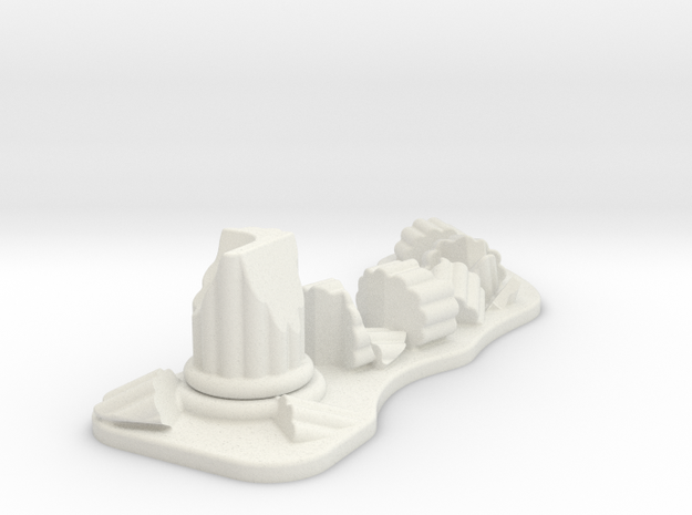 Ruined Column 28mm Scale Gaming Scatter Terrain in White Strong & Flexible