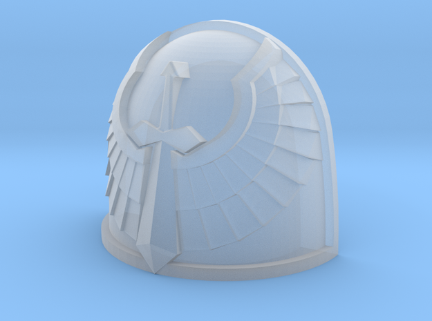 M4 Basic Shoulder Pad - Angel Sword design in Smooth Fine Detail Plastic: Small