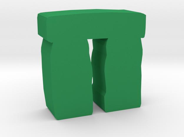 Game Piece, stonehenge in Green Processed Versatile Plastic