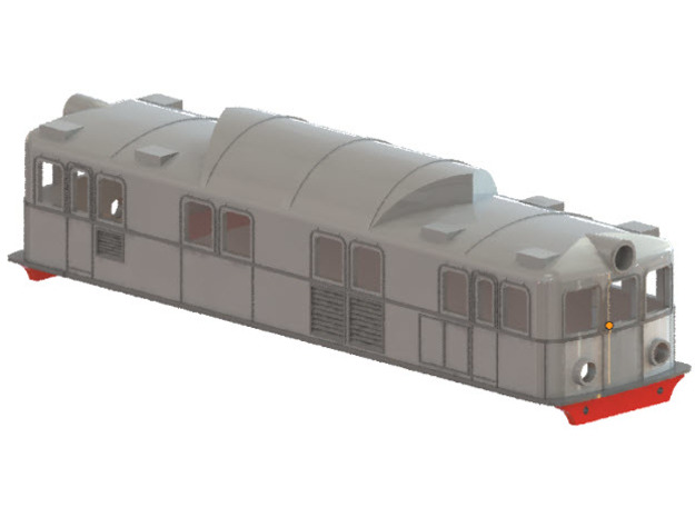 Swedish SJ electric locomotive type Pa - N-scale in Frosted Ultra Detail