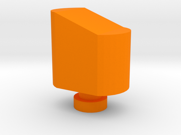 Airsoft Magazine Feeder Head in Orange Processed Versatile Plastic