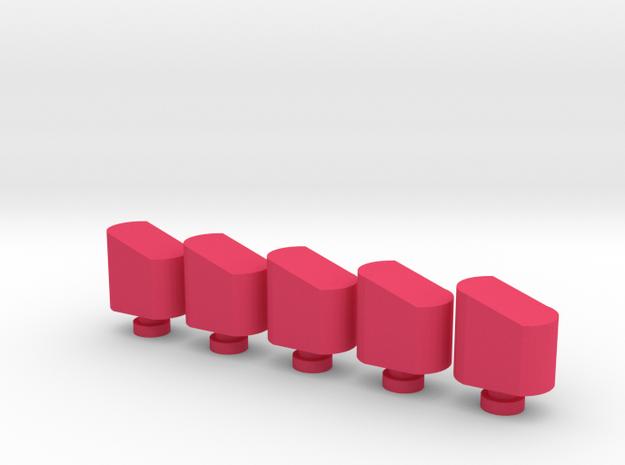 Airsoft Magazine Feeder Head (5-Pack) in Pink Processed Versatile Plastic