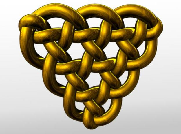 Celtic Knots 10 (small) 3d printed Rendered in gold.