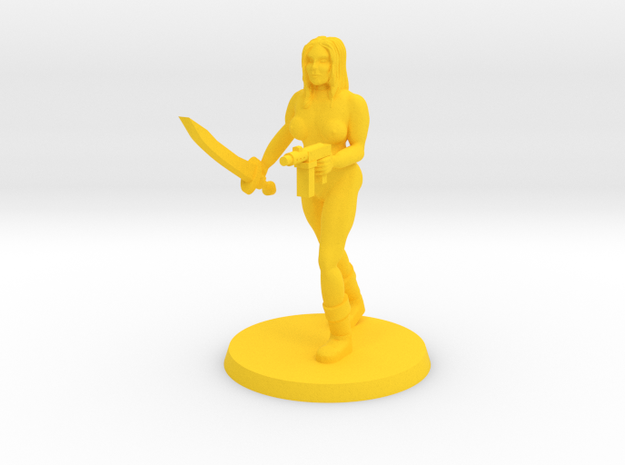 Ginger NSFW Doll in Yellow Processed Versatile Plastic