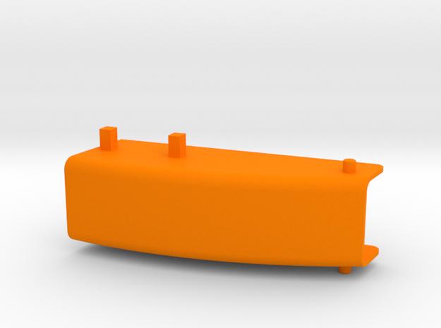 Auswurfkamin für Servomontage, 25mm breit  in Orange Processed Versatile Plastic
