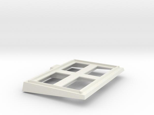 1/144 Scale Burke VLS Frame Front in White Natural Versatile Plastic