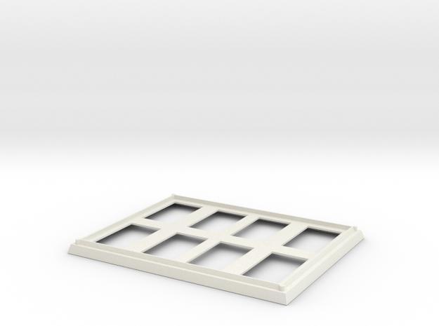 1/144 scale Burke VLS Frame Rear in White Strong & Flexible