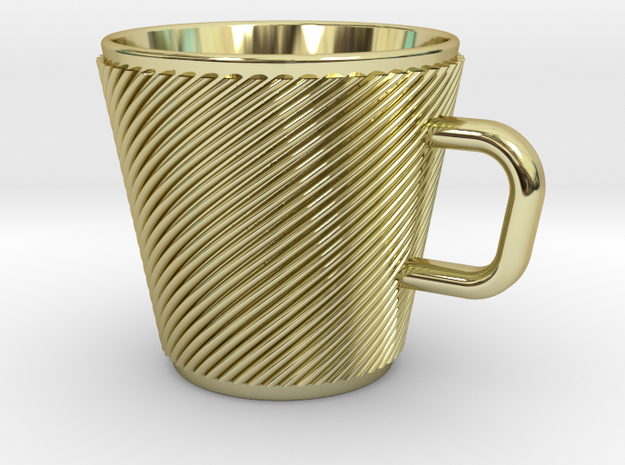 Espresso Cup - Precious metals in 18k Gold Plated Brass