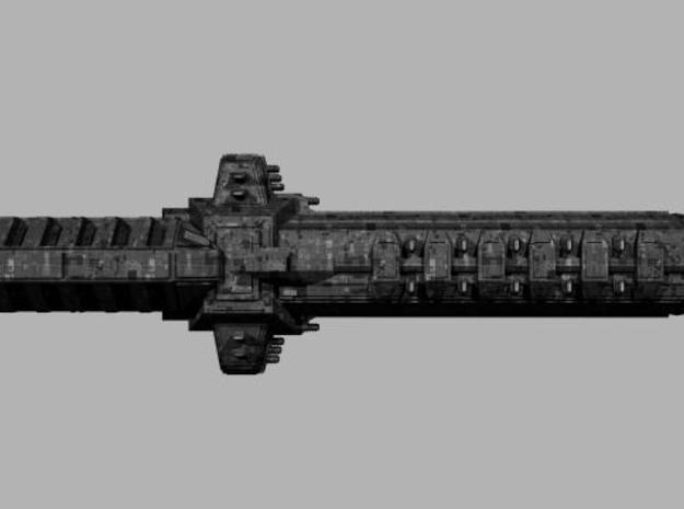 Londarian Claymore Class SuperDreadnought 3d printed Side profile render