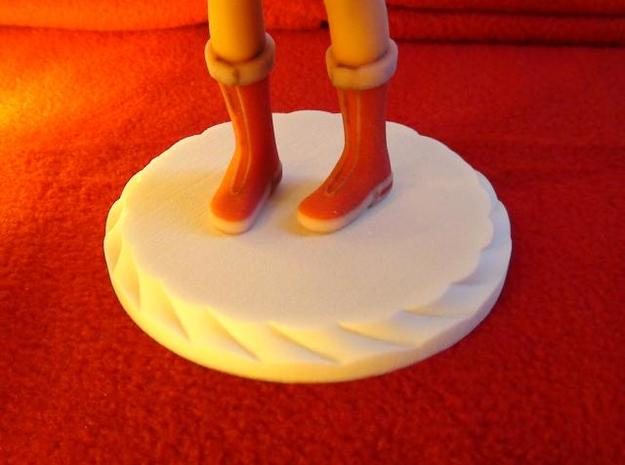 """""""Santa Girl"""" Figure (Stand) 3d printed Santa Girl Figure Stand Picture"""