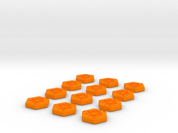 Critical Tokens  in Orange Processed Versatile Plastic