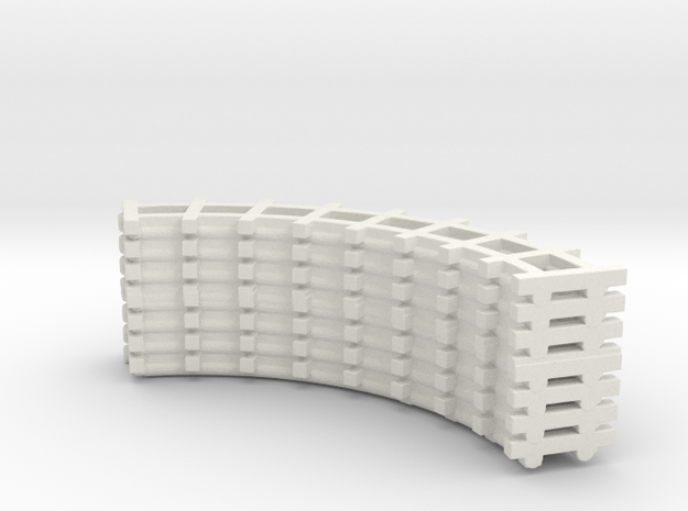 central park racked track curved in White Natural Versatile Plastic