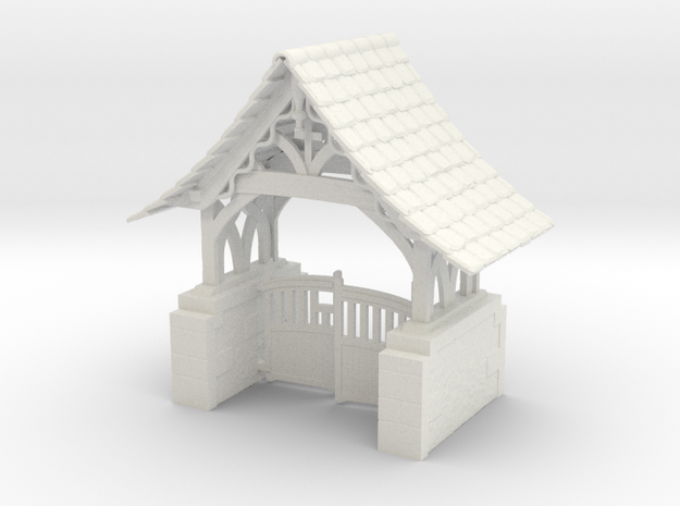 Lych Gate in White Natural Versatile Plastic