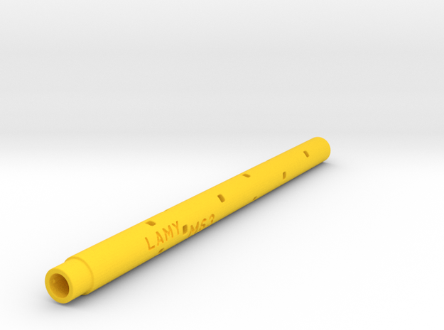 Adapter: Lamy M63 To Coleto in Yellow Processed Versatile Plastic