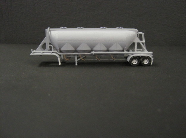 N scale 1/160 J&L/Heil 1636 Dry Bulk Trailer 18 in Smooth Fine Detail Plastic