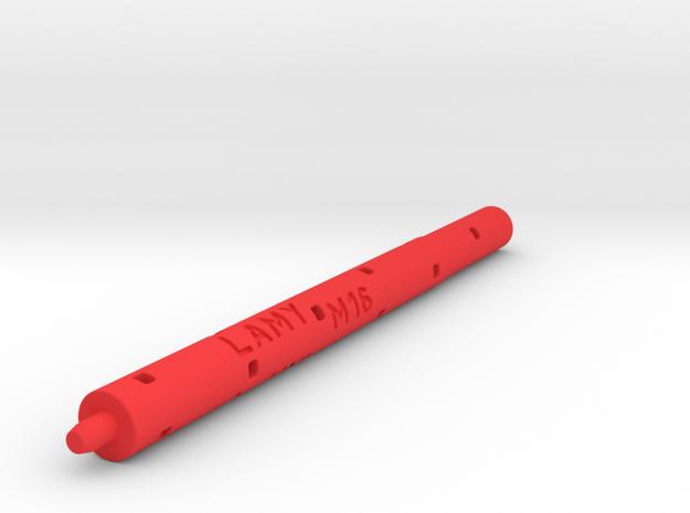 Adapter: Lamy M16 to Uni UMR-109 in Red Processed Versatile Plastic