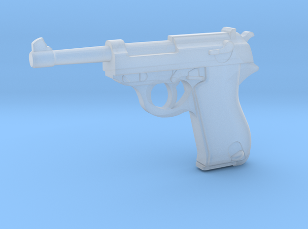 Walther P38 (1:18 scale) in Smooth Fine Detail Plastic: 1:18
