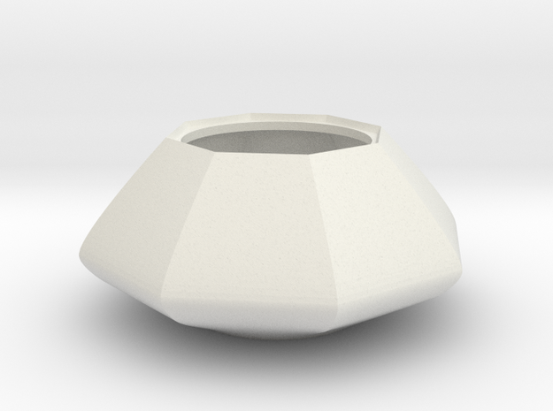 Sugar bowl - Circular to octagonal shape (only bow in White Natural Versatile Plastic